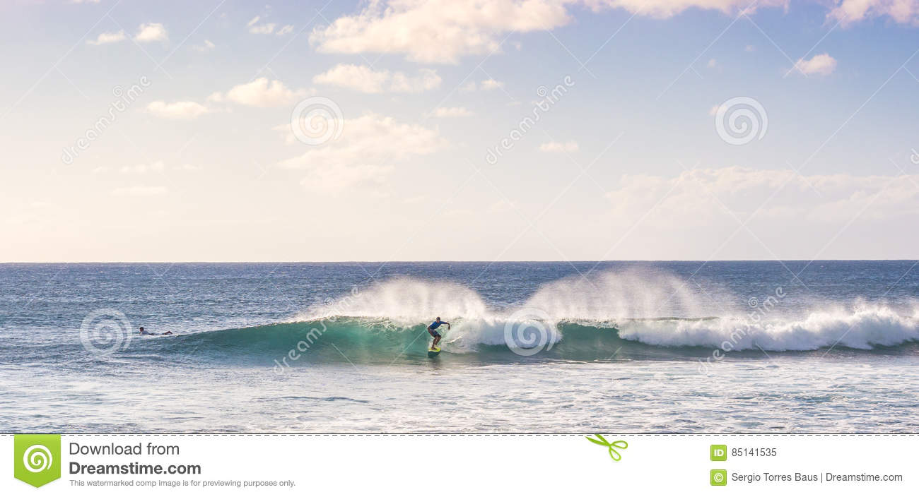 Surfing the Easter Island