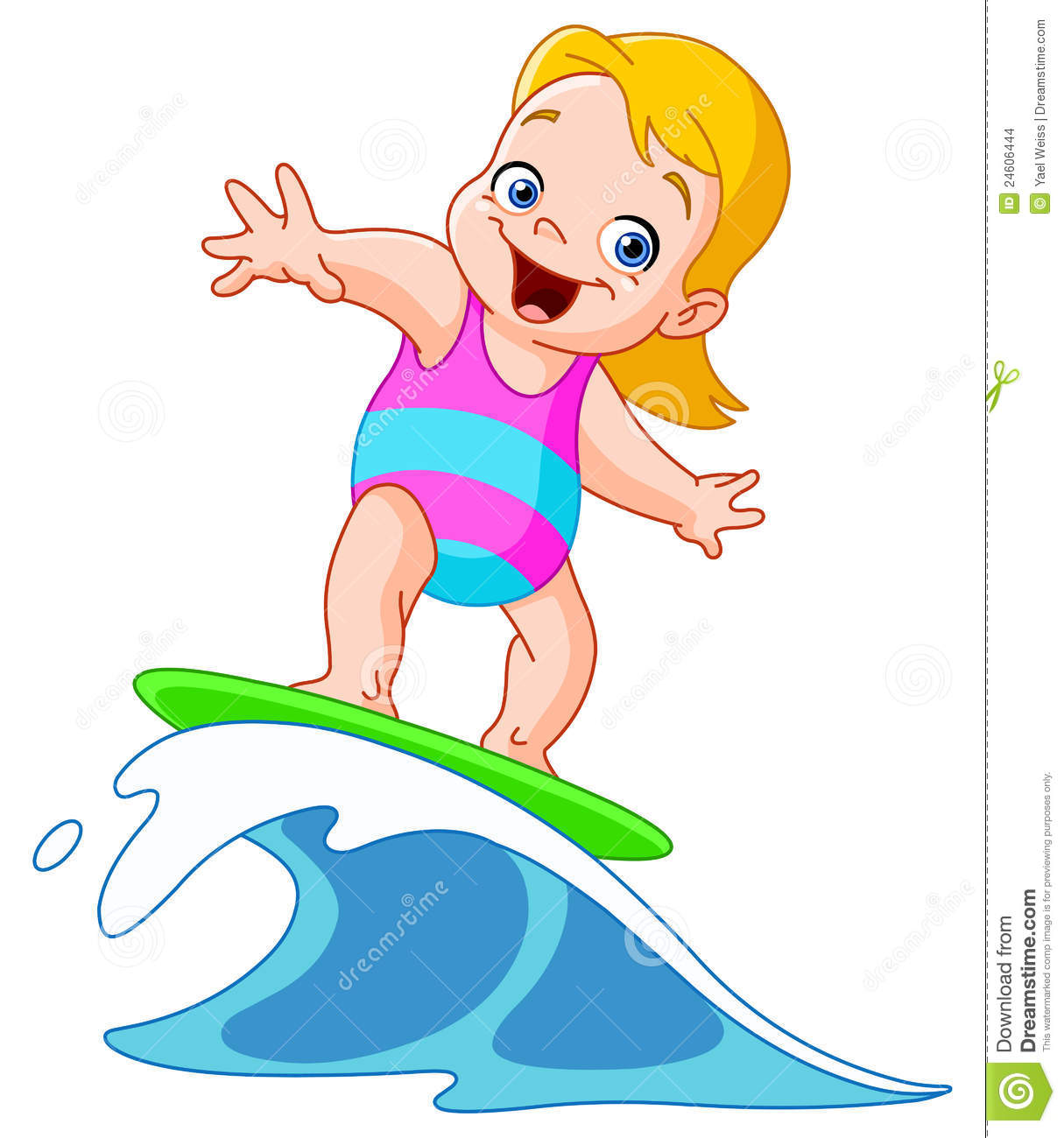 Surfing Girl Stock Images Image 24606444