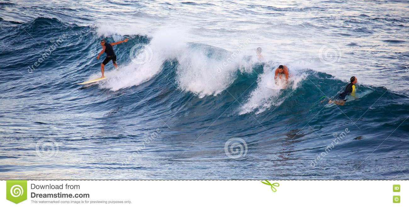 Surfing At Hookipa Editorial Stock Photo Image Of Athlete