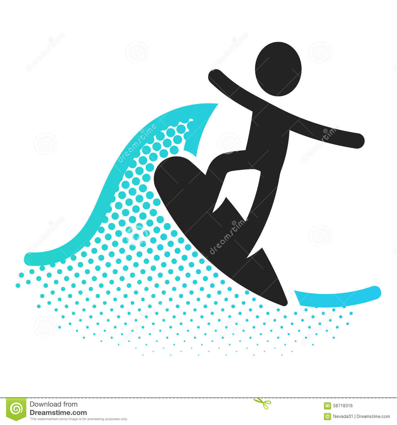 Surfing icon stock illustration. Image of pool, pictogram ...
