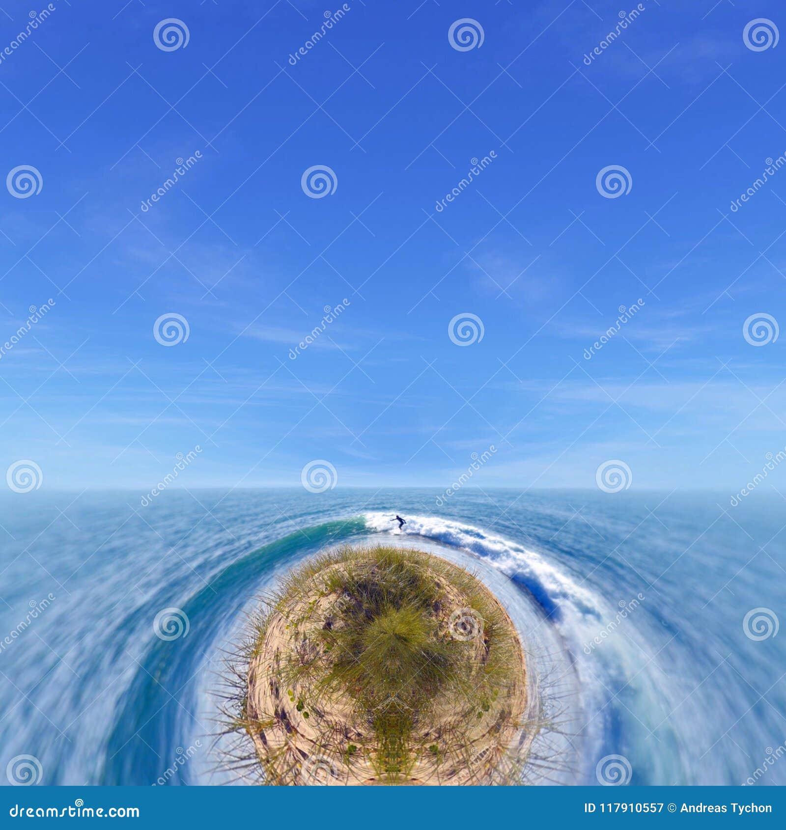 Surfing Ocean Fantasy Stock Image Image Of Island Ocean
