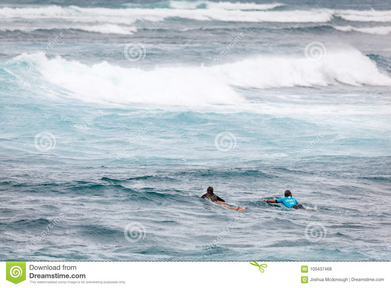 32a7849c52 Surfing Paddling At Sunset Beach Hawaii Editorial Stock Photo ...