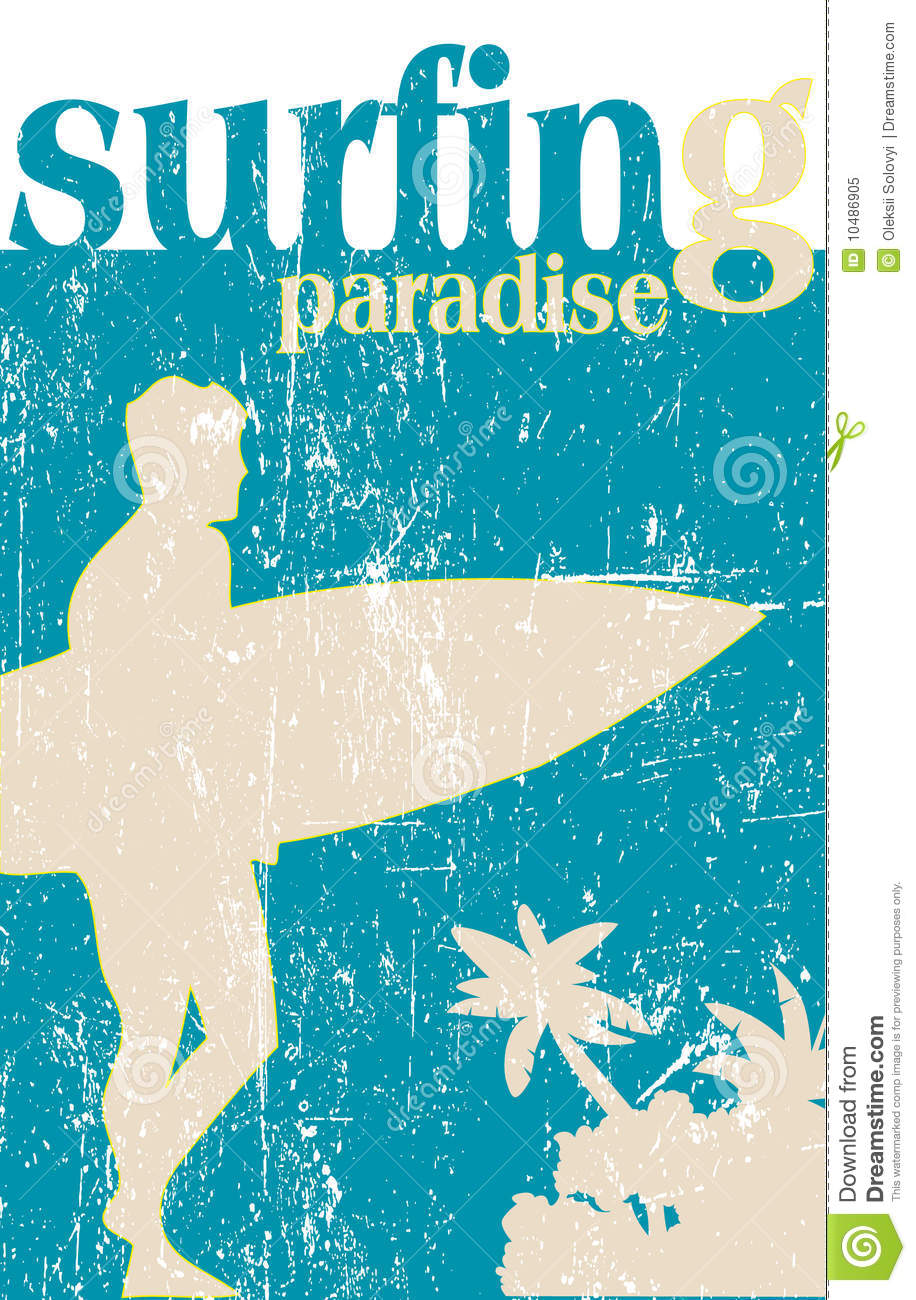 Surfing Poster Royalty Free Stock Photo Image 10486905