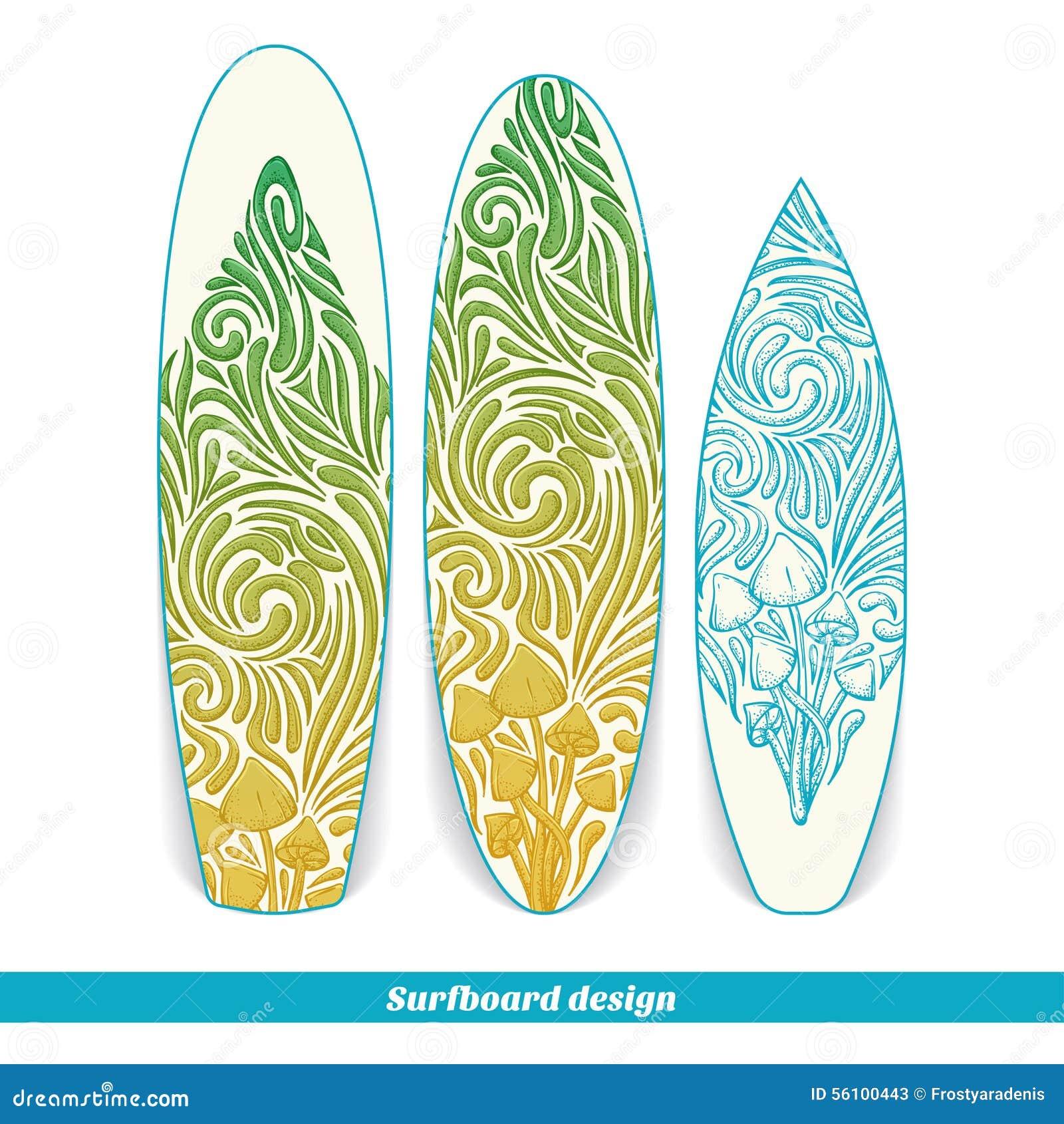 Surfingbrädadesign fem