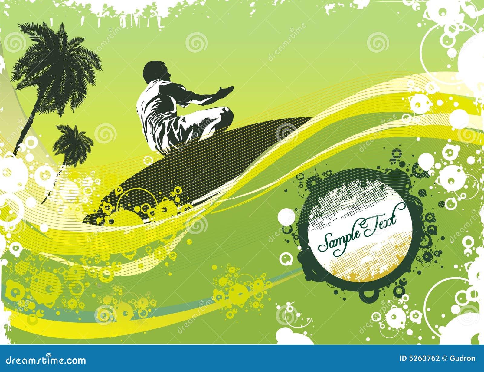 Surfista em ondas