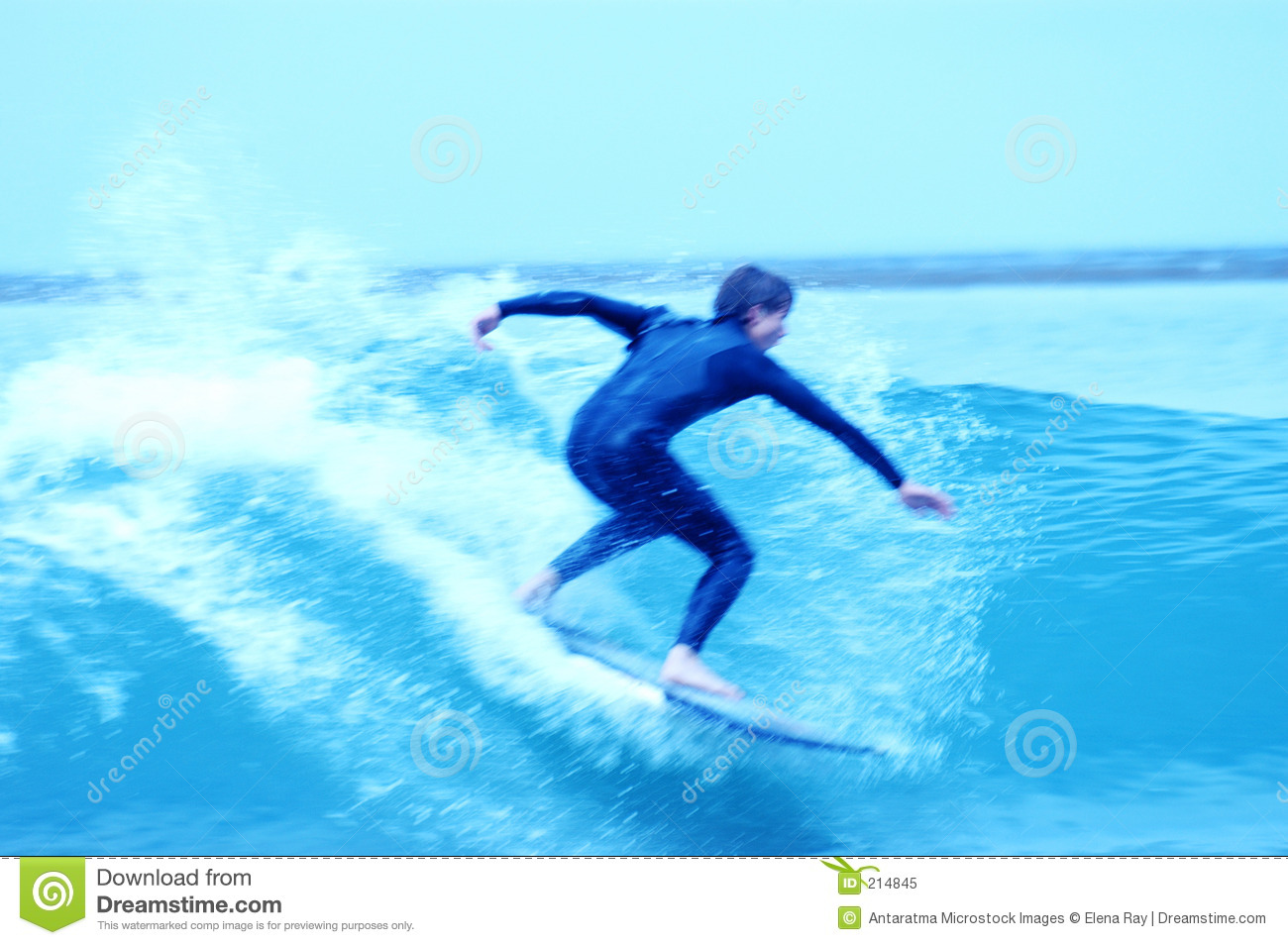 Download Surfisti blu 9 immagine stock. Immagine di people, oceano - 214845