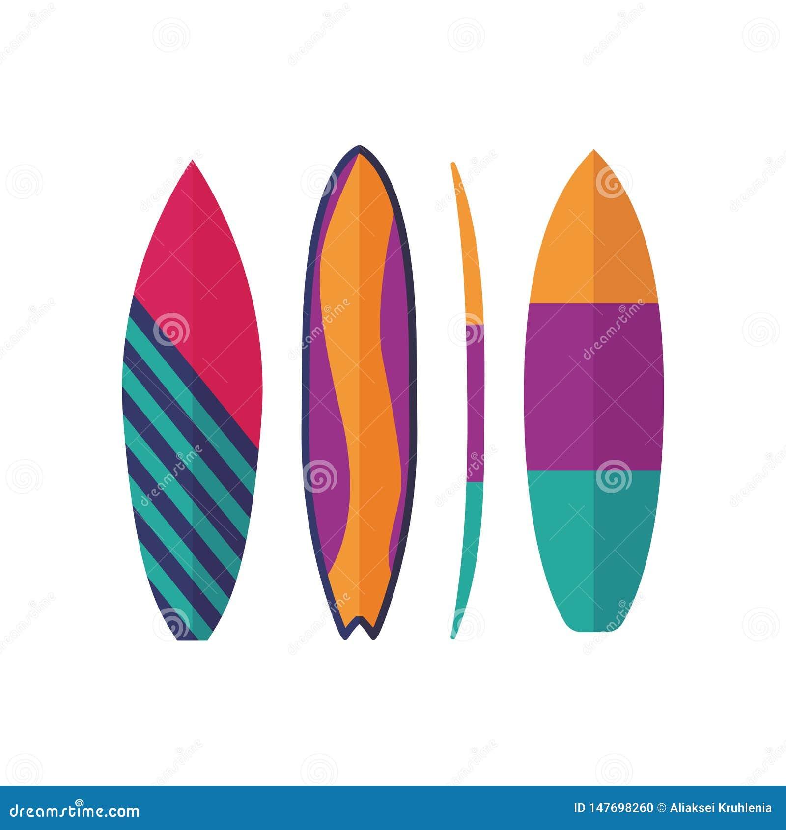 Surfować desek ikony