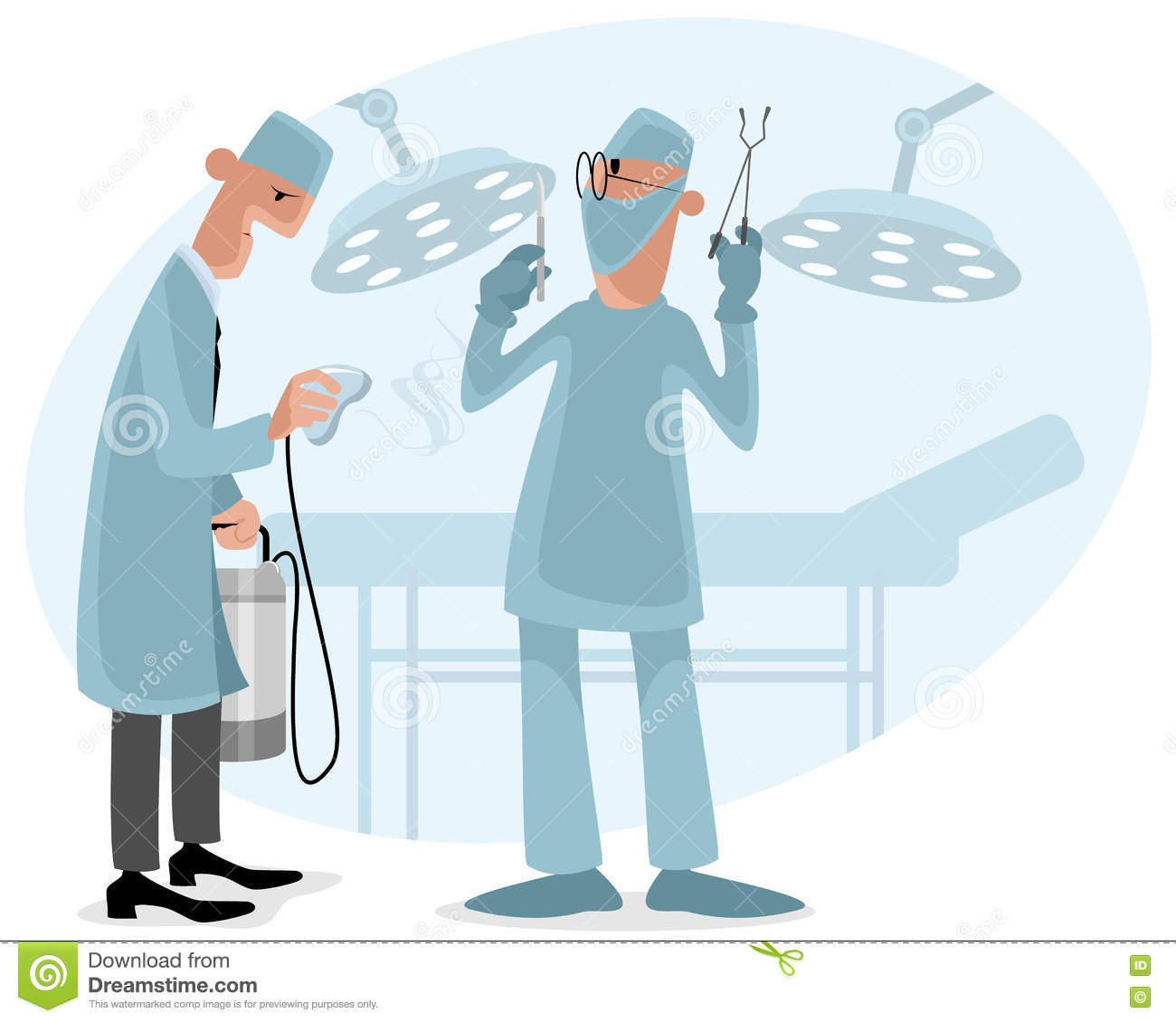Surgeon And Anesthetist Stock Vector Illustration Of Hospital