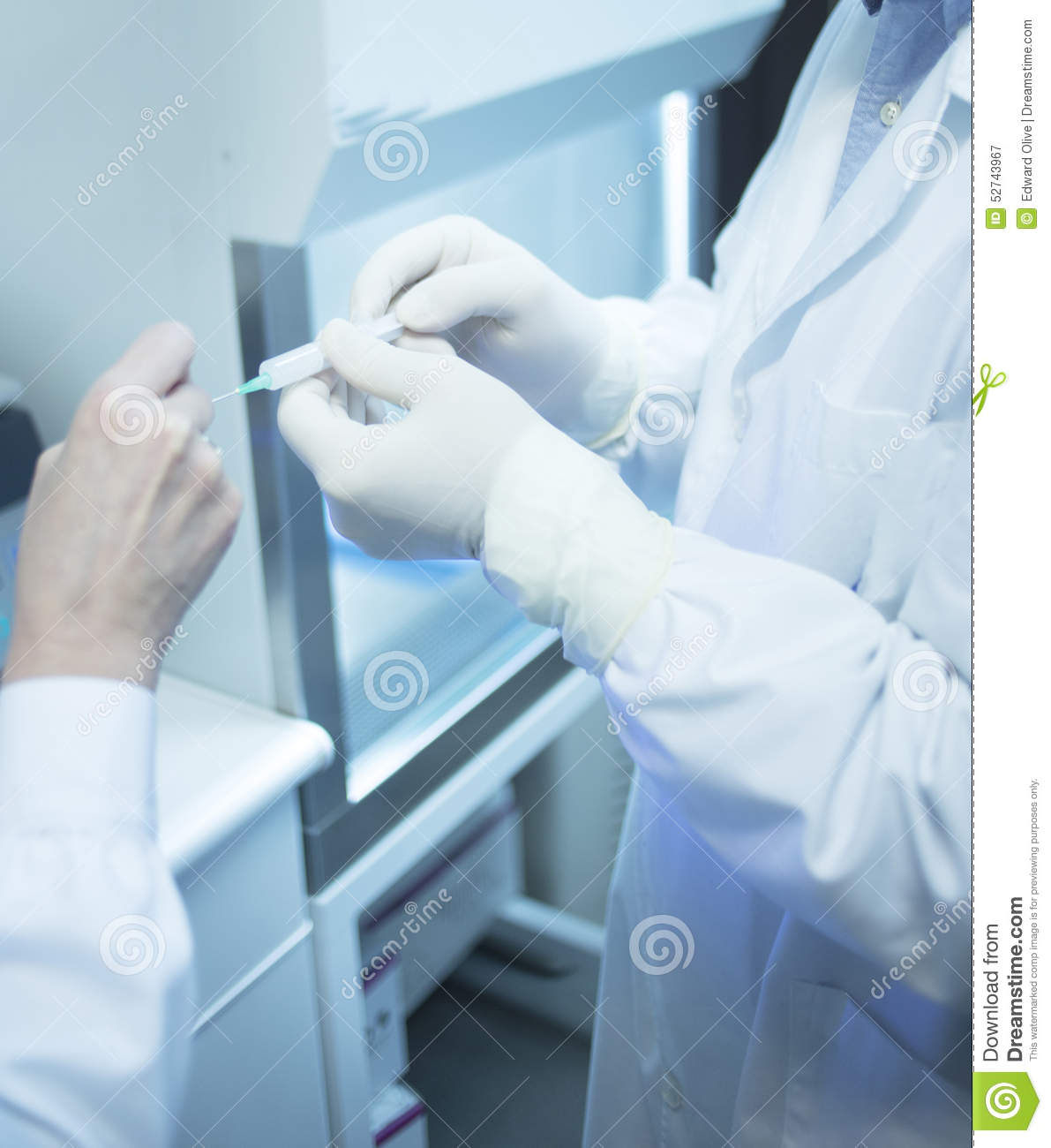 Surgeon Doctor Preparing Injection Of PRP In Clinic Stock