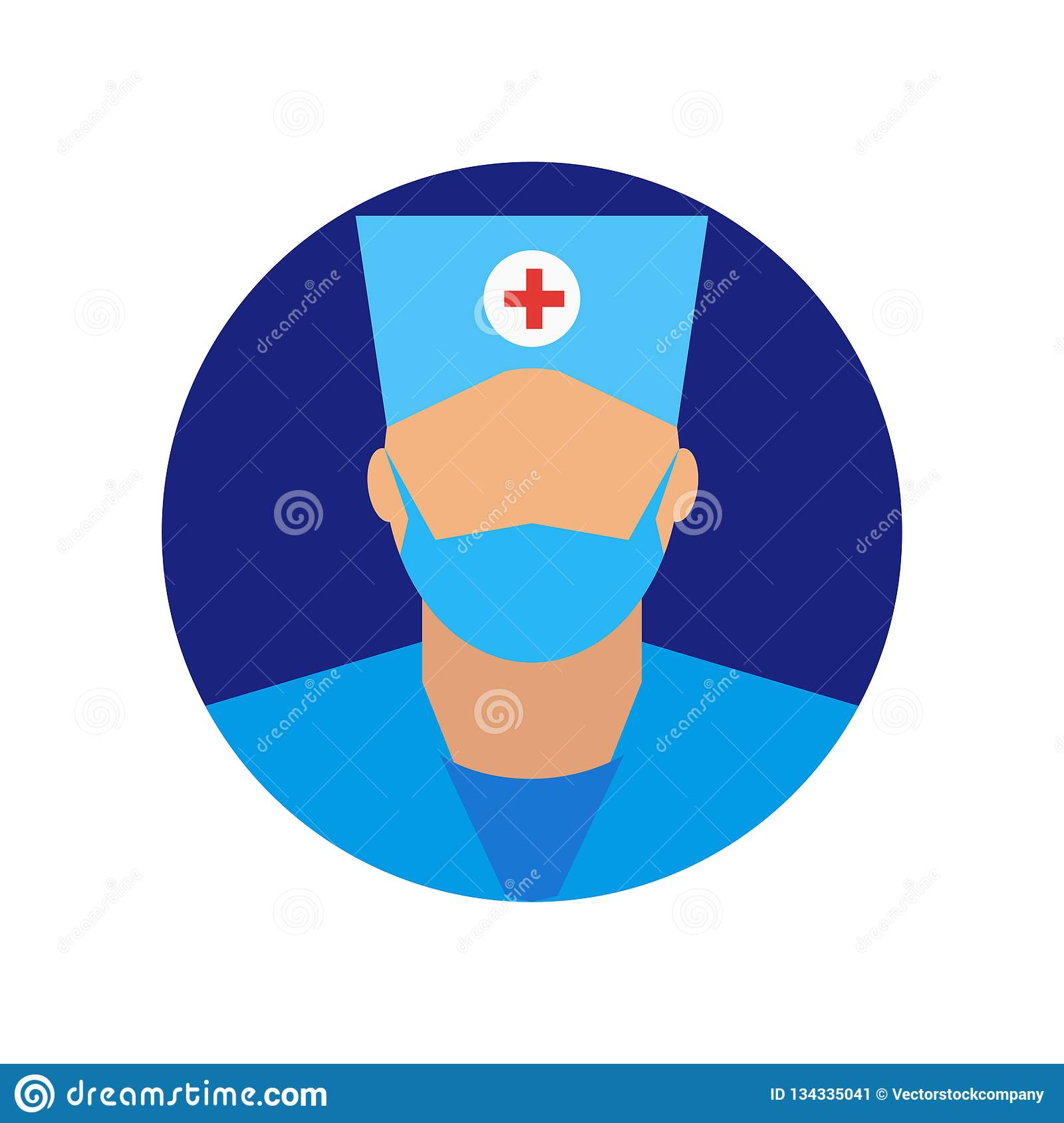 Surgeon Icon Vector Sign And Symbol Isolated On White Background Surgeon Logo Concept Stock Vector Illustration Of Symbol Graphic 134335041