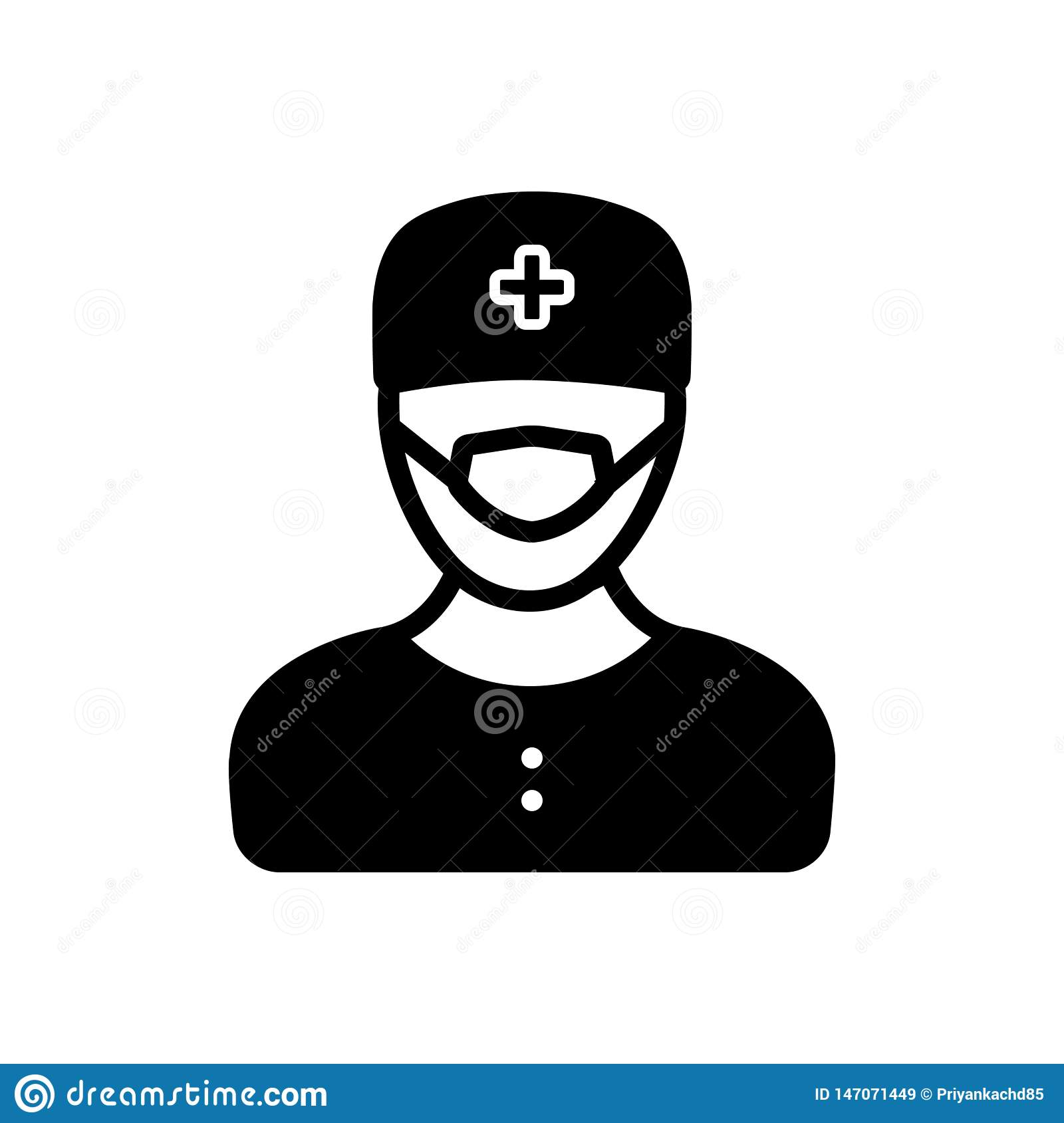 Black Solid Icon For Surgeon Doctor And Surgery Stock Illustration Illustration Of Professional Sign 147071449