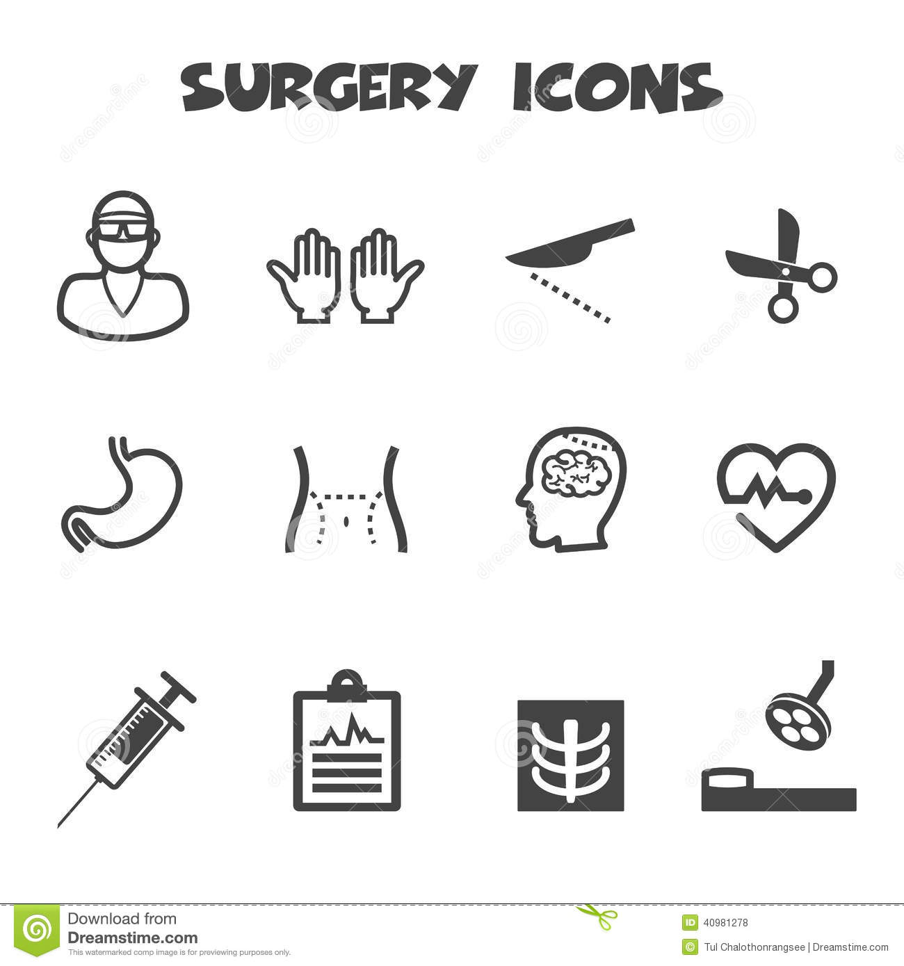 Surgery Icons Stock Vector - Image: 40981278