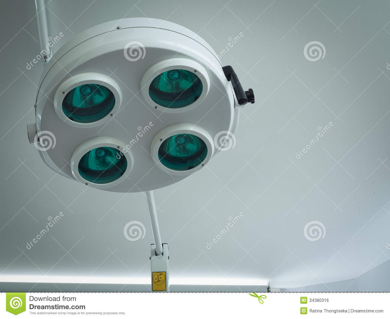 Surgical Light Or Medical Lamp In Operation Room Stock Photo