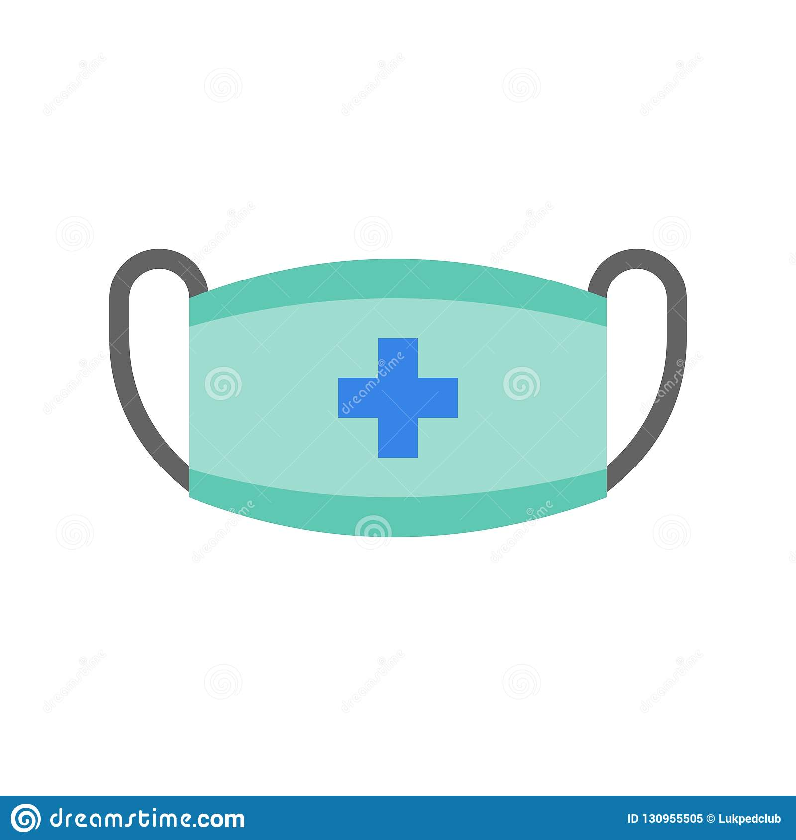 Flat Set Mask And Surgical Design Related Icon Hospital Medical