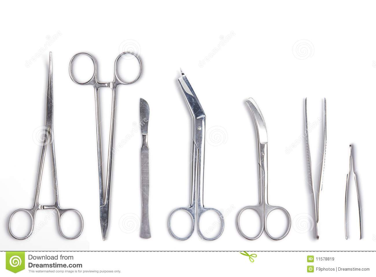 Surgical Tools Isolated On White Royalty Free Stock Images - Image ...