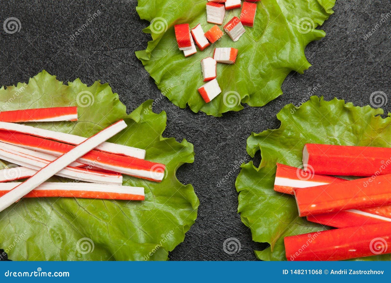 Surimi开胃菜,卵蛋白仿制螃蟹棍子