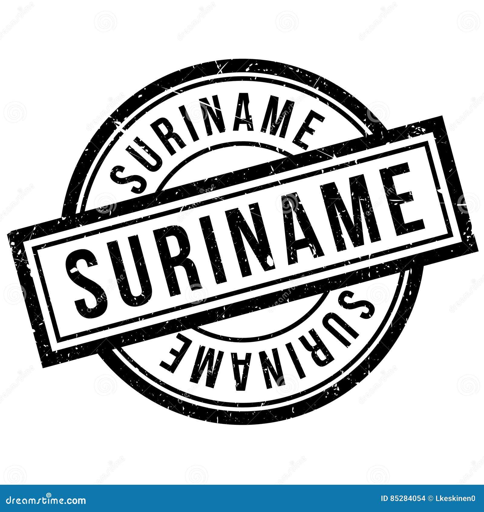 Suriname rubber stamp