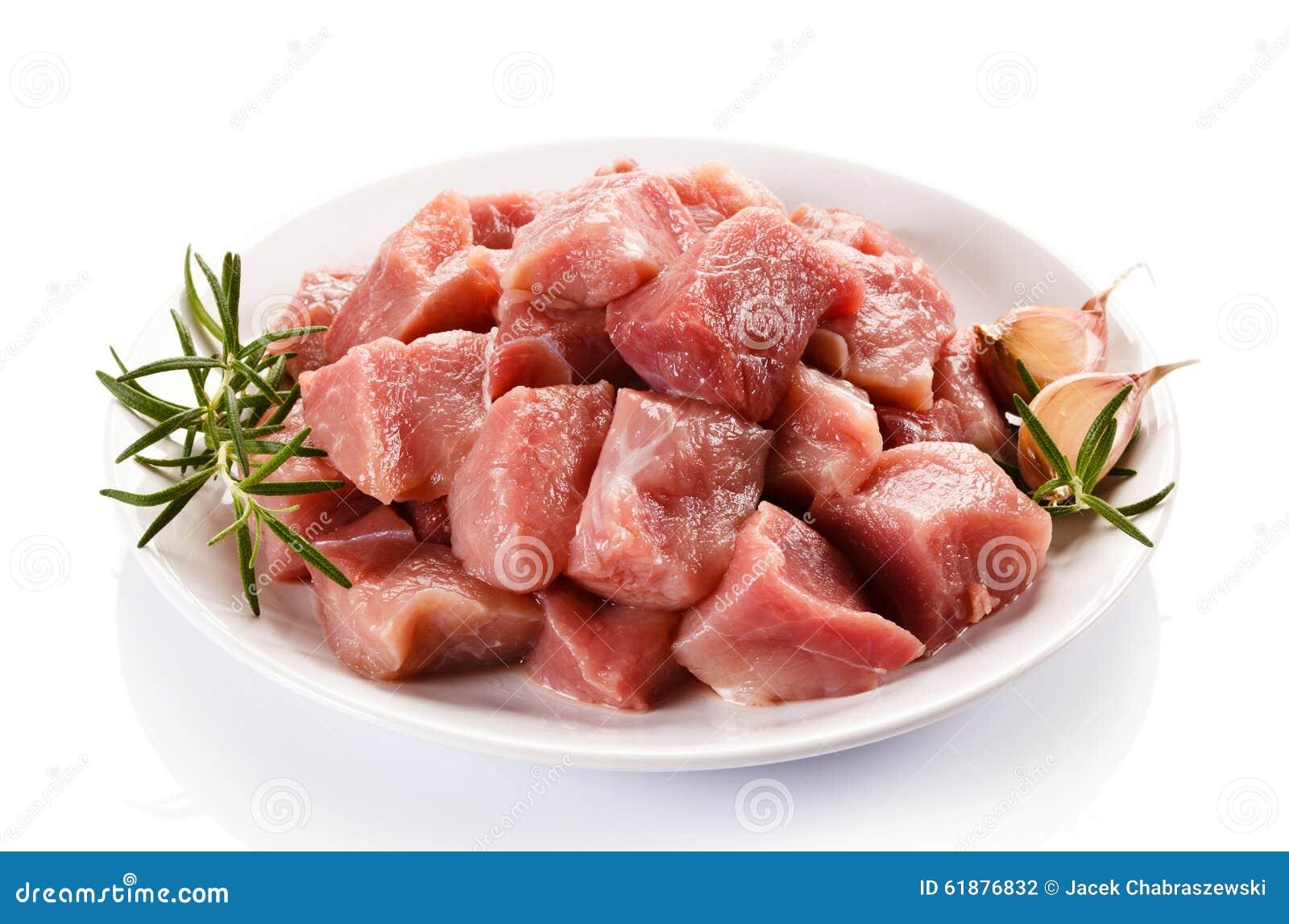 Surowa świeża wieprzowina