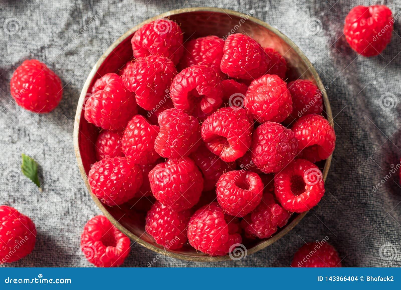 Surowe Czerwone Organicznie malinki