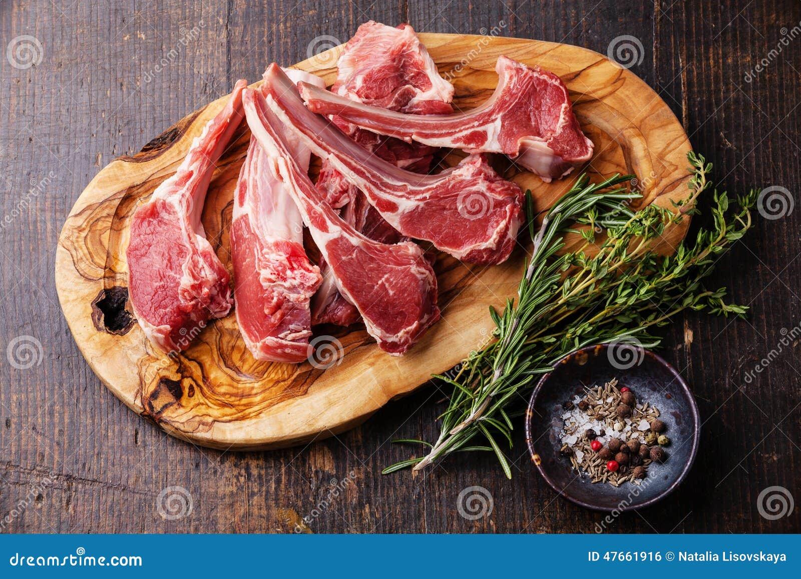 Surowi świezi Jagnięcy mięso ziobro