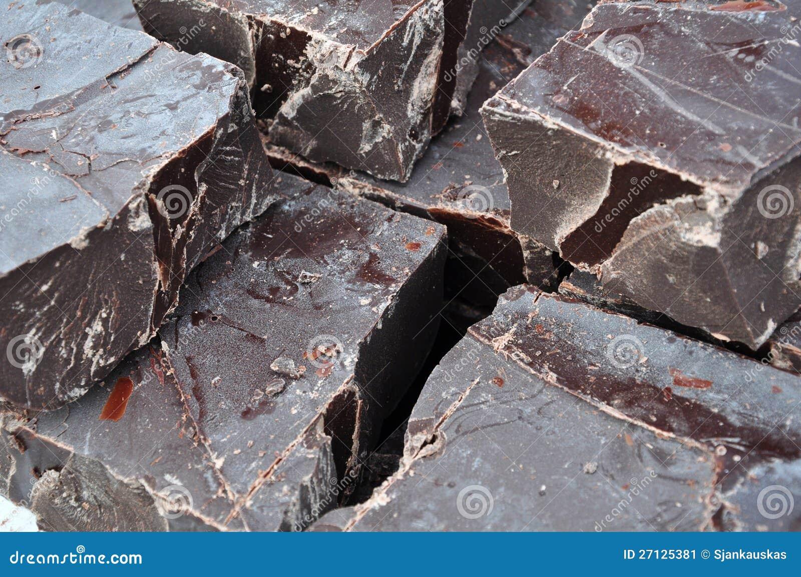 Surowi czekoladowi kawałki