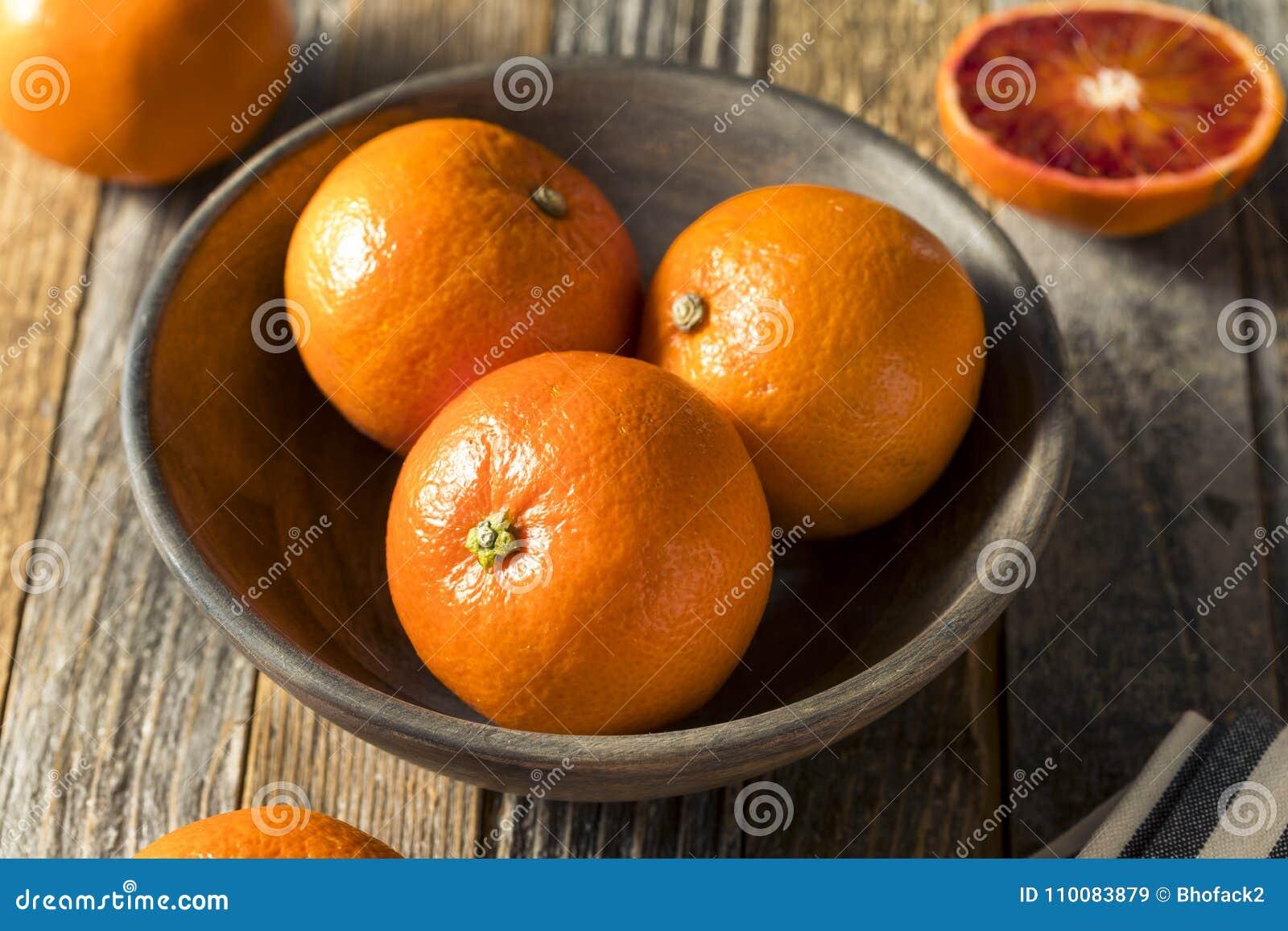 Surowi Organicznie Rubinowi tango Krwionośnej pomarańcze Clementines