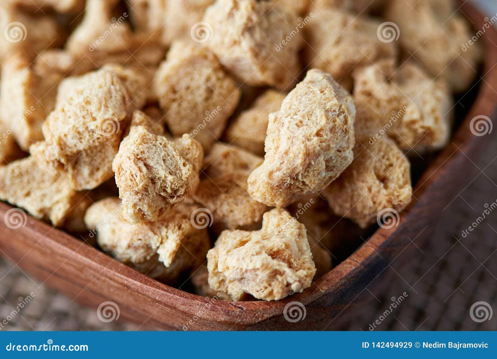 Surowi soya kawały