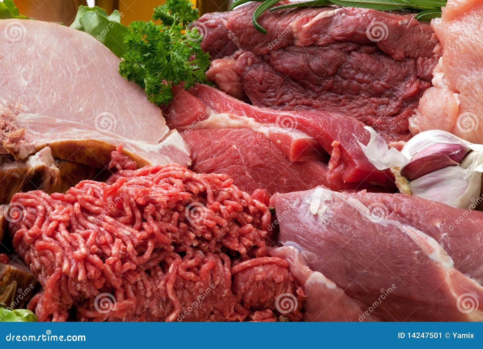 Surowy świeży tła mięso