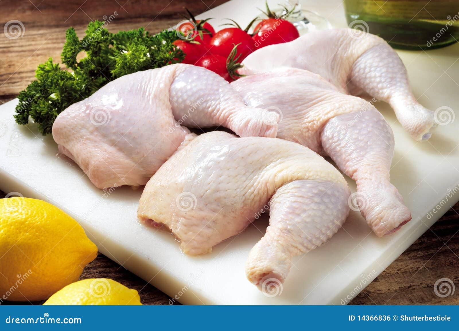 Surowy kurczaka udo