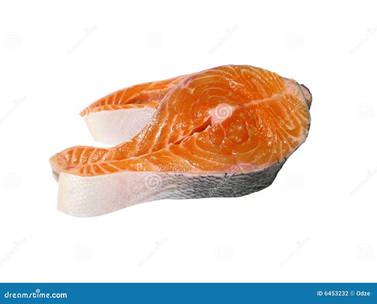 Surowy stek łososia