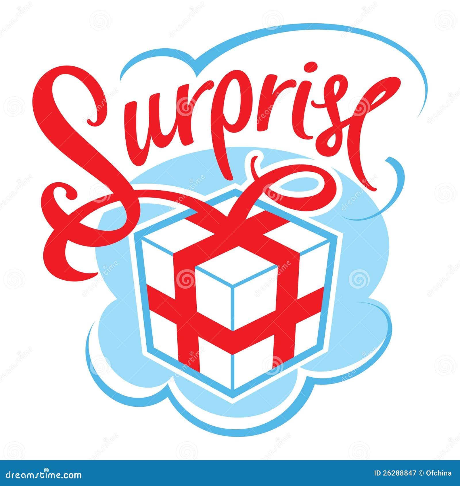 Surpris da caixa de presente