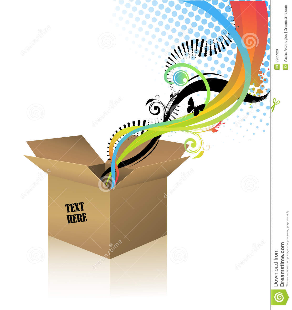 surprise box stock vector illustration of recycle brown 9205920