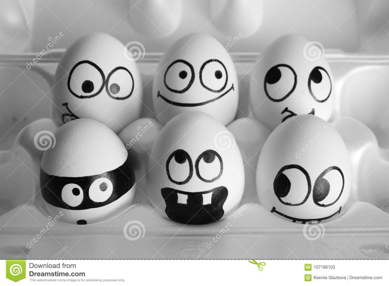 Surprise Concept The Eggs Are Funny Stock Image Image Of