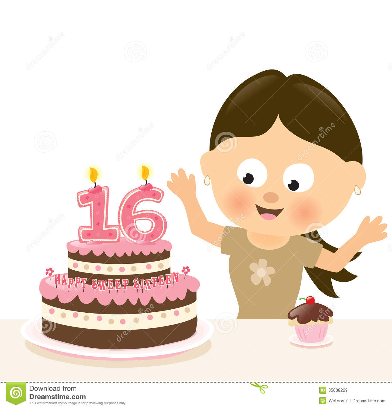 Sweet Art Cake Classes : Surprise Sixteen Birthday Royalty Free Stock Images ...