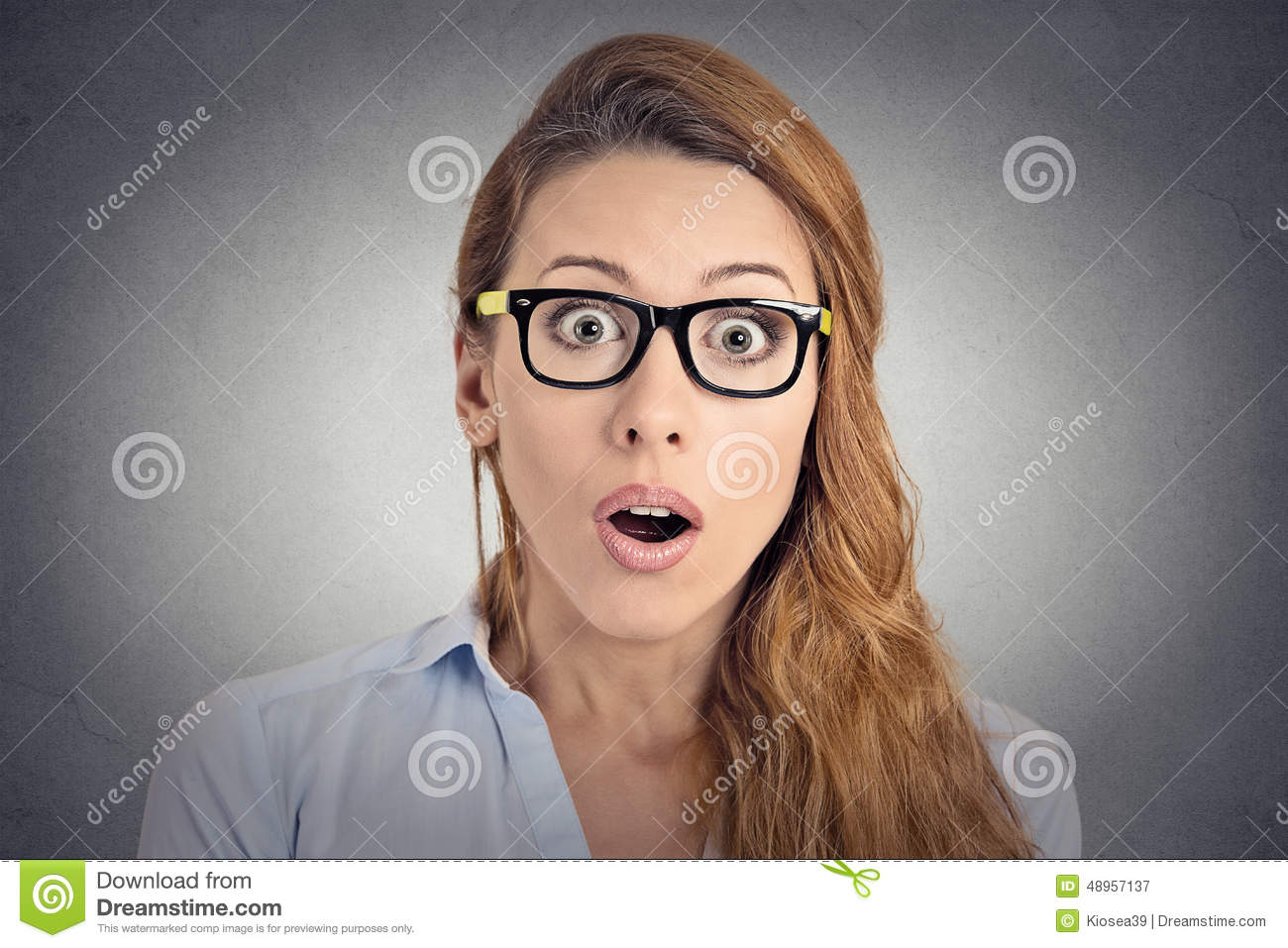 Surprised astonished woman