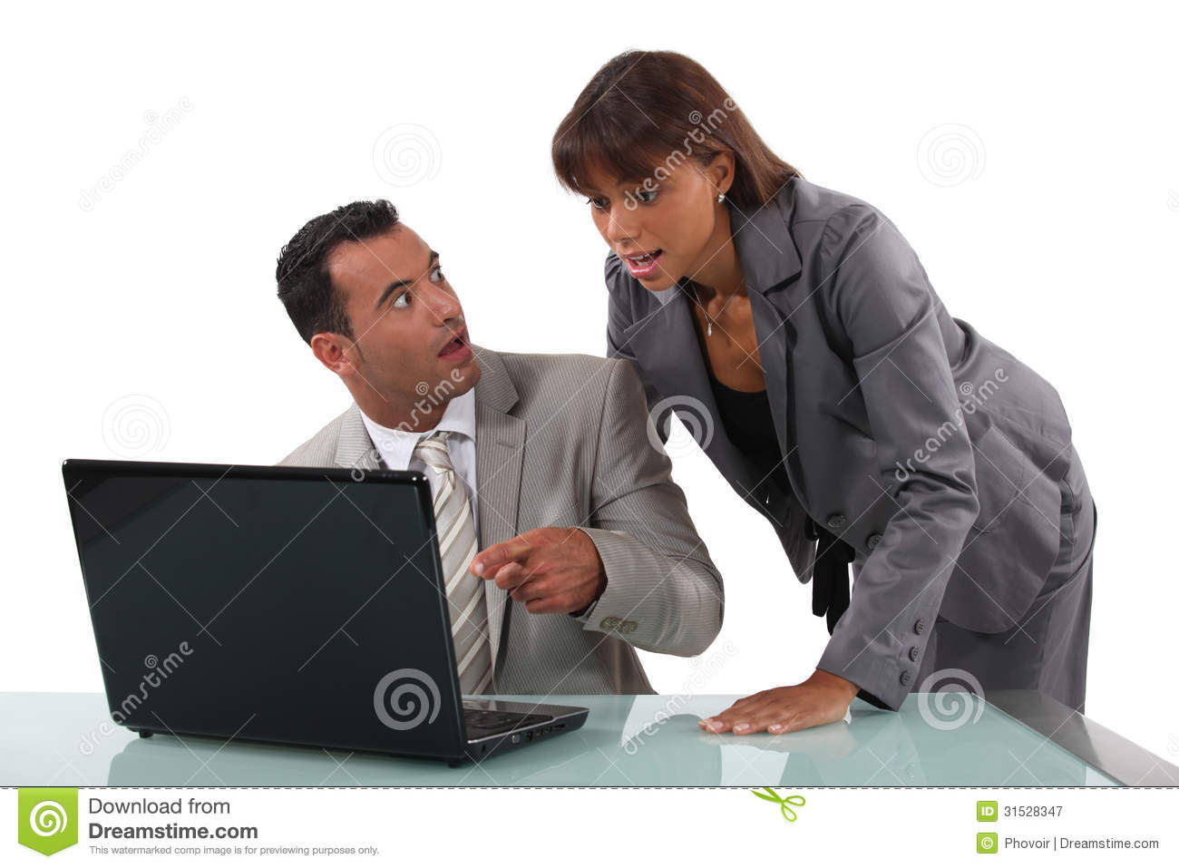 Surprised Business People Royalty Free Stock Photography - Image ...