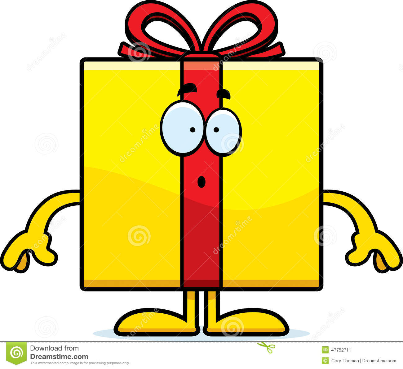 Surprised Cartoon Birthday Gift Stock Vector Illustration Of Gift