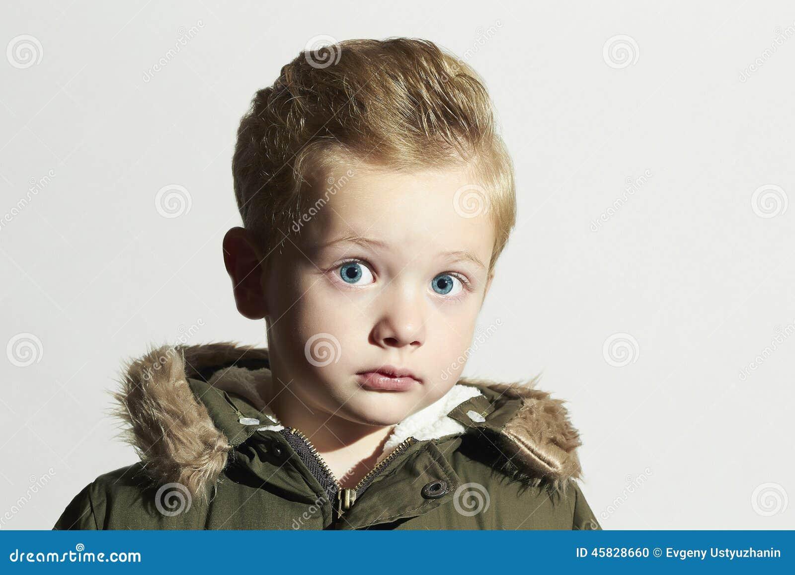 5fdff2efa Surprised Child In Winter Coat. Fashion Kid.children.khaki Parka ...