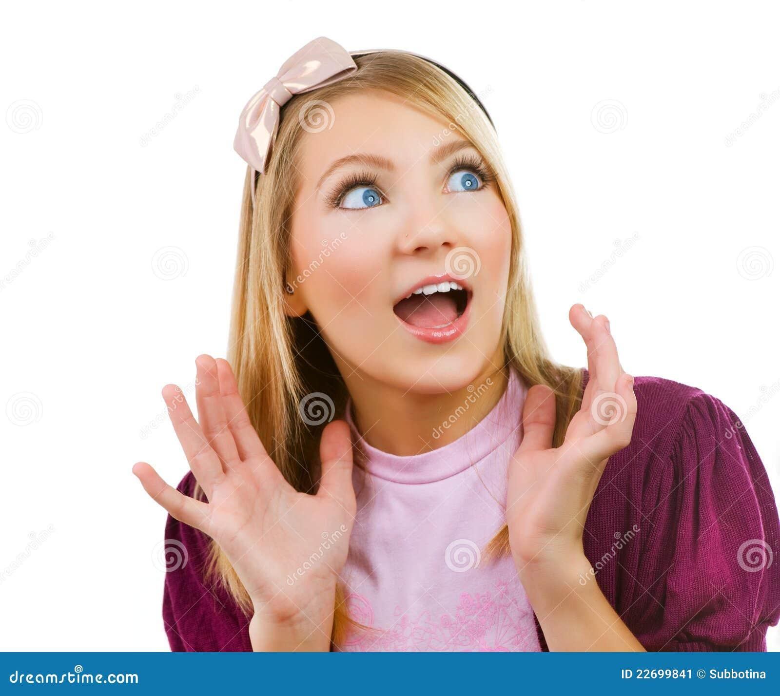Surprised Cute Teenage Girl