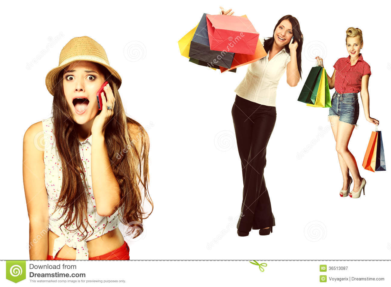 Surprised emotional girl talking on mobile phone about for Home styles com