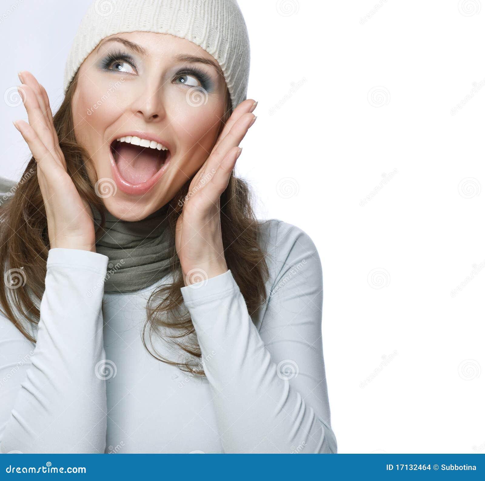 Download Surprised Girl stock photo. Image of birthday, enjoying - 17132464