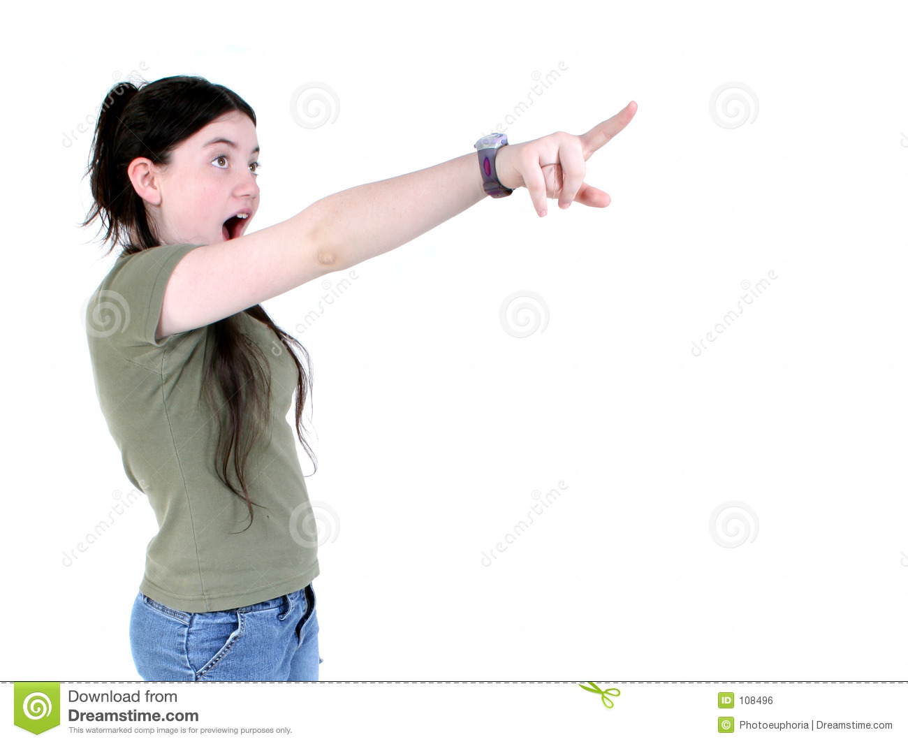 Surprised Girl Pointing Royalty Free Stock Image - Image ...
