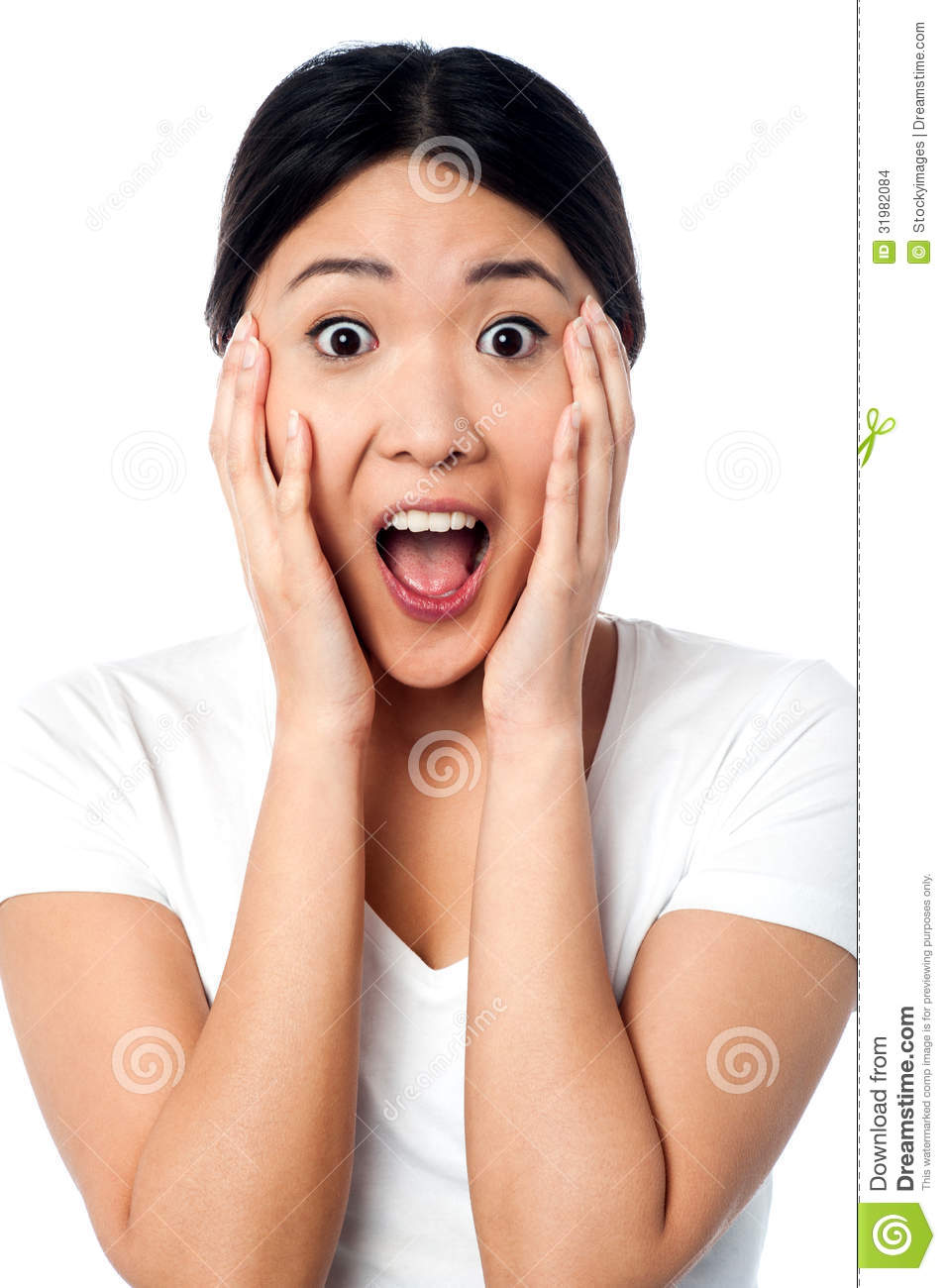 Surprised Girl With Wide Open Mouth Stock Images - Image: 31982084