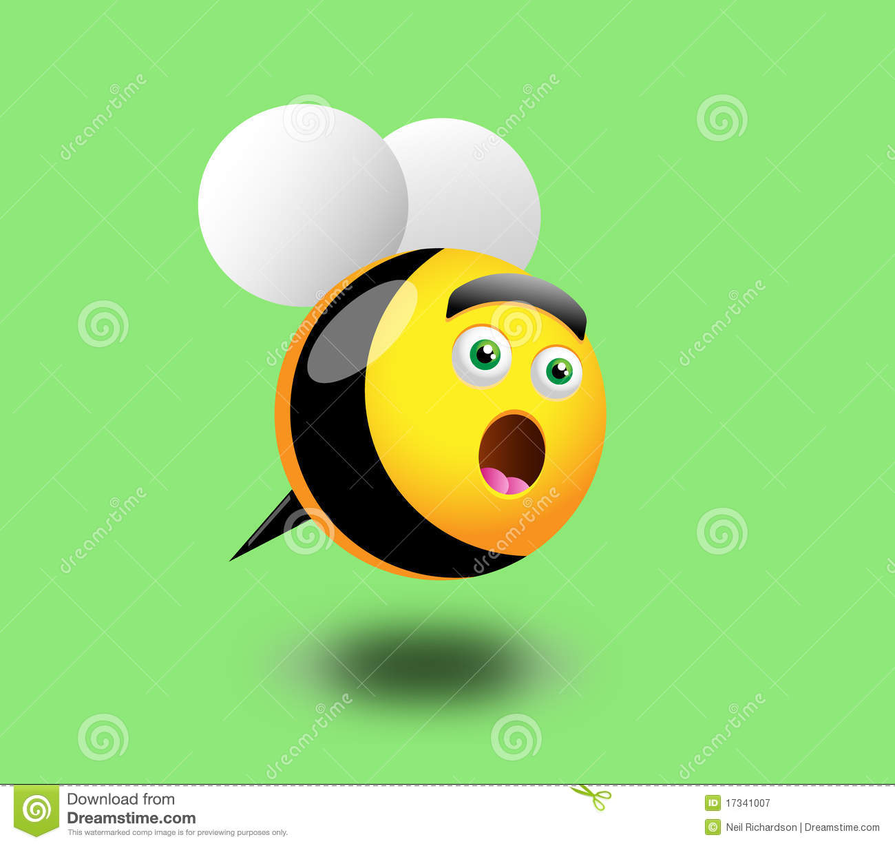 Surprised Honey Bee stock vector. Illustration of humorous ...