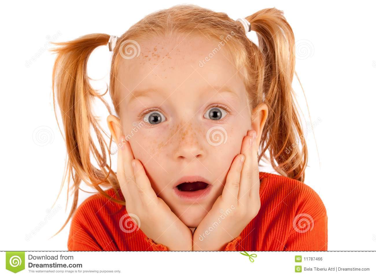 surprised little girl royalty free stock image image