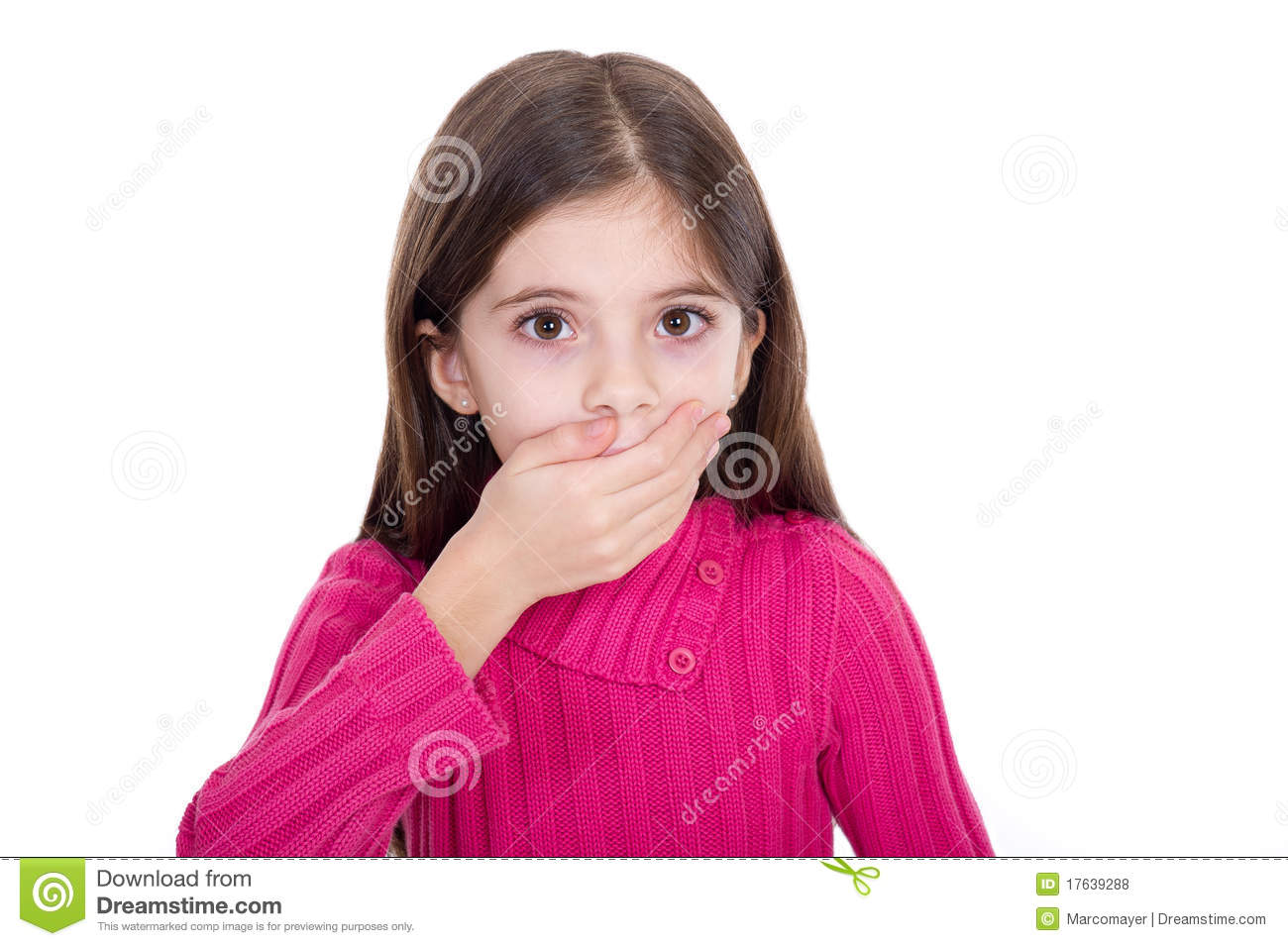 surprised little girl royalty free stock photos image