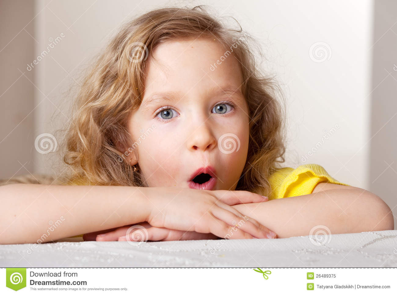 surprised little girl royalty free stock photo image