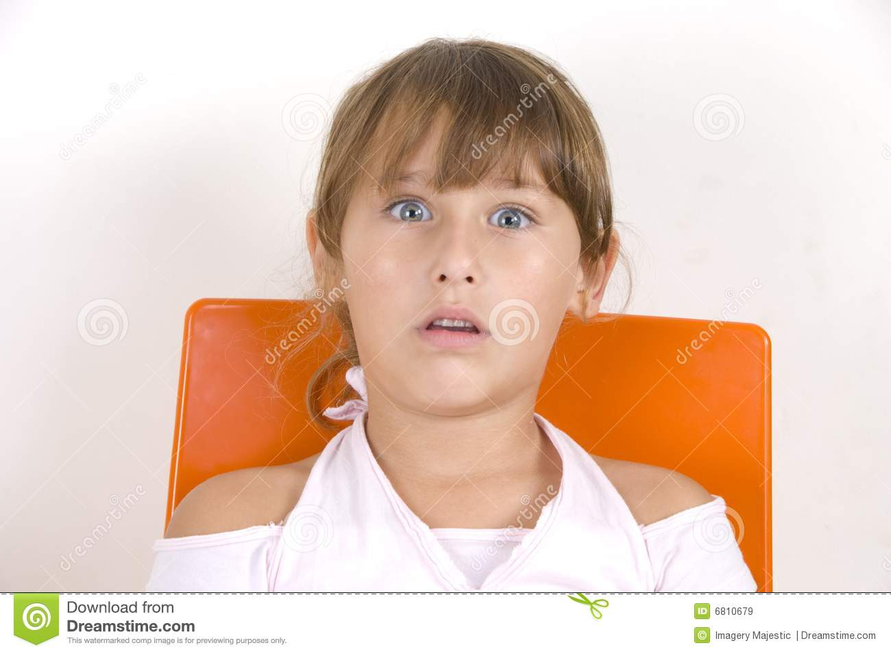 surprised little girl stock image image of child