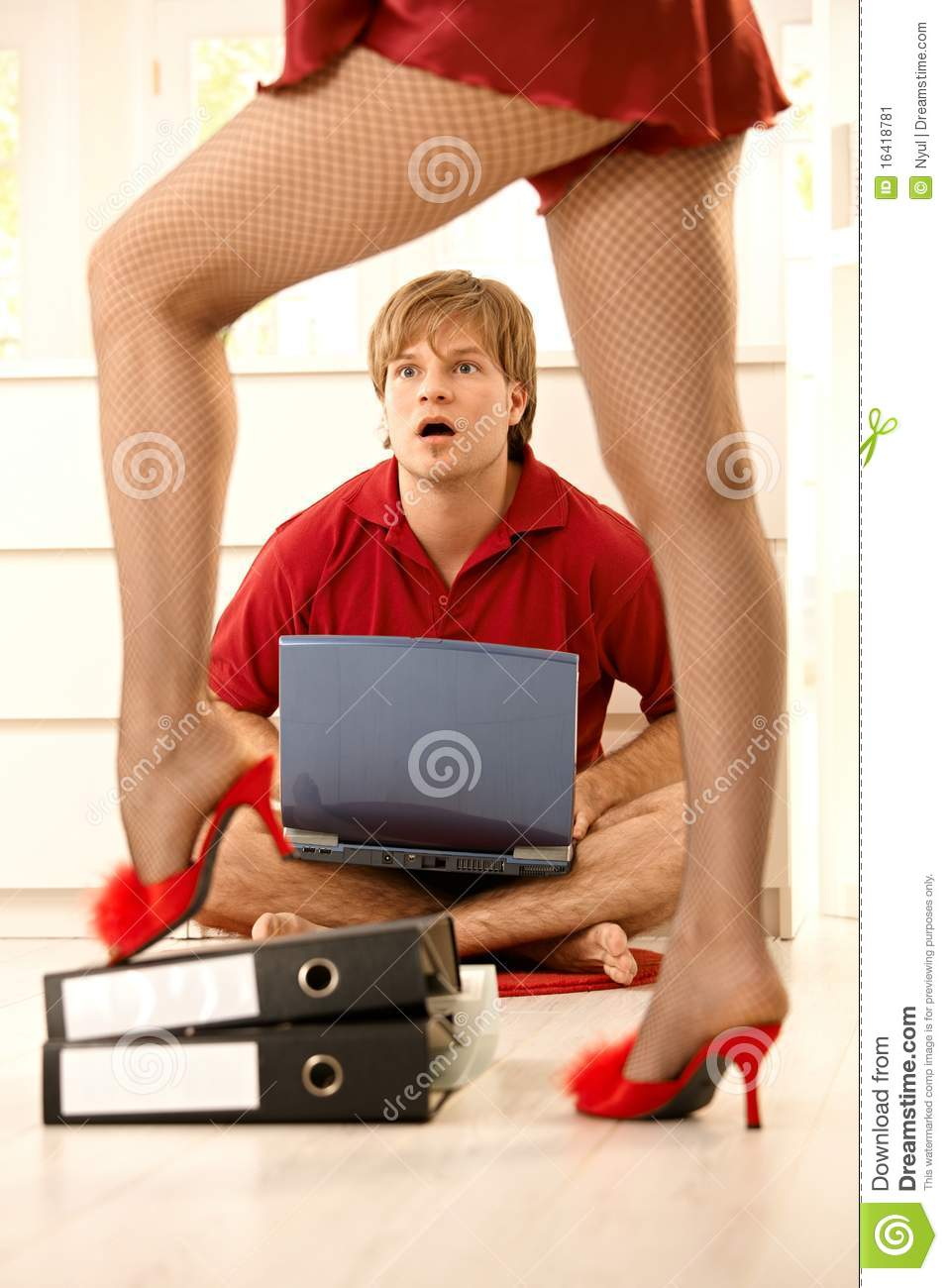 Surprised Man Looking At Woman Stock Image - Image Of Doll -4993