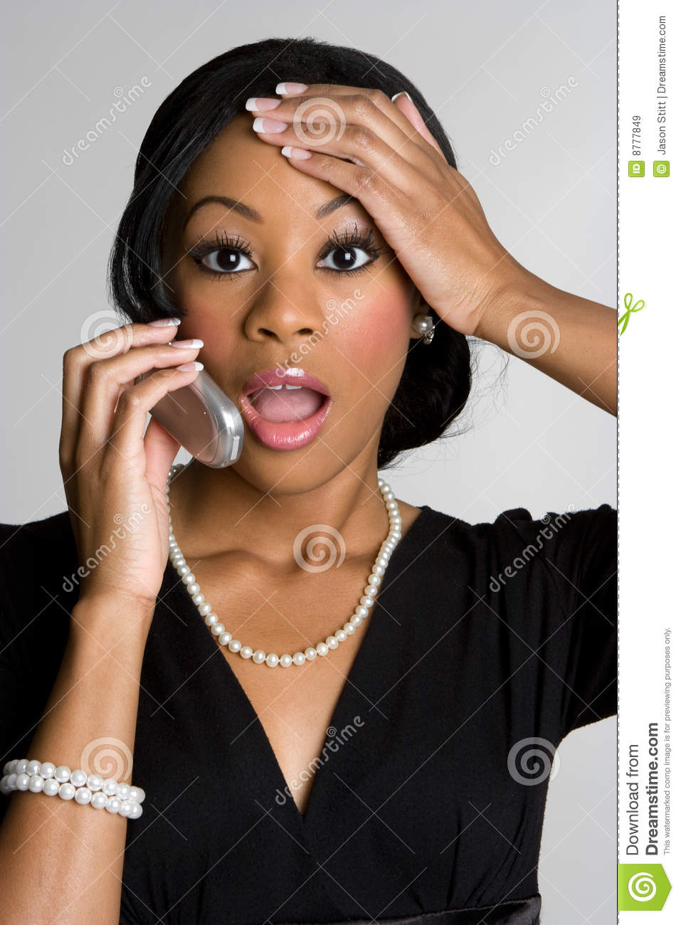 Surprised Phone Woman Stock Image Image Of Young, American - 8777849-2021